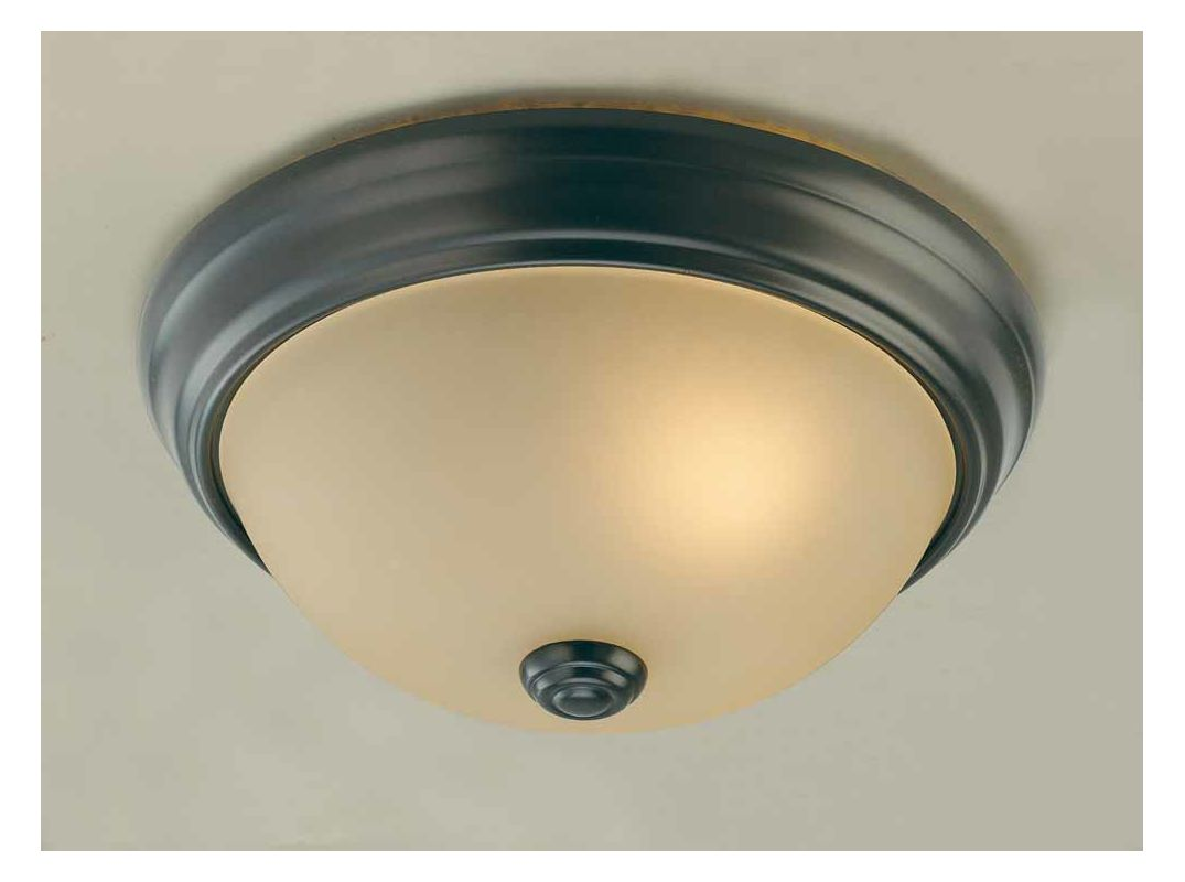 Volume Lighting V6990 Marti 1 Light Flush Mount Ceiling Fixture with