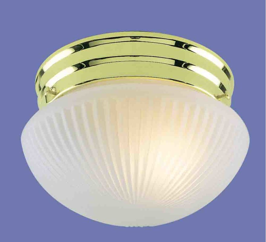 "Volume Lighting V7050 2 Light 11"" Flush Mount Ceiling Fixture Polished"