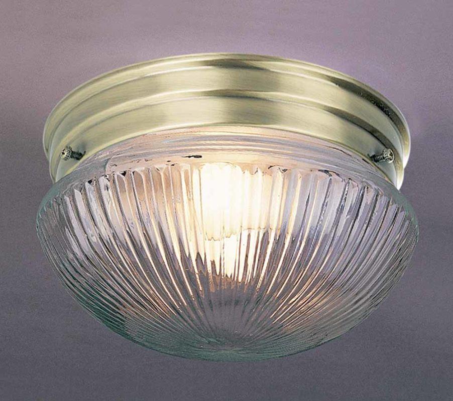 """Volume Lighting V7056 1 Light 7"""" Flush Mount Ceiling Fixture with"""