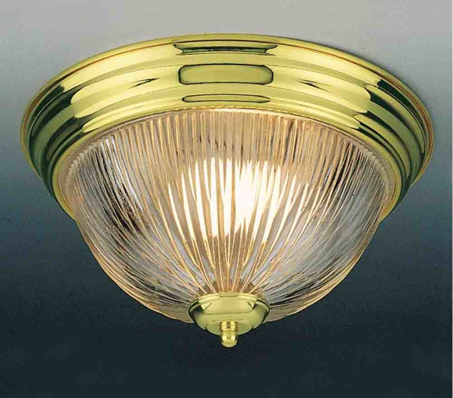 Volume Lighting V7210 1 Light Flush Mount Ceiling Fixture with Clear