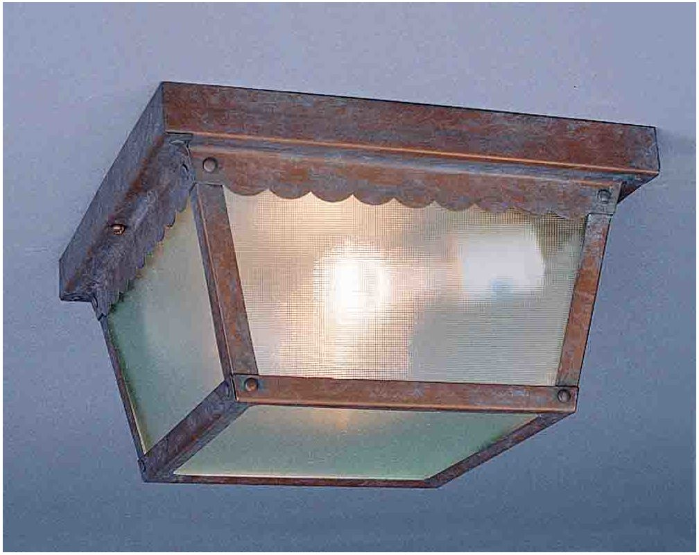 Volume Lighting V7231 1 Light Flush Mount Outdoor Ceiling Fixture