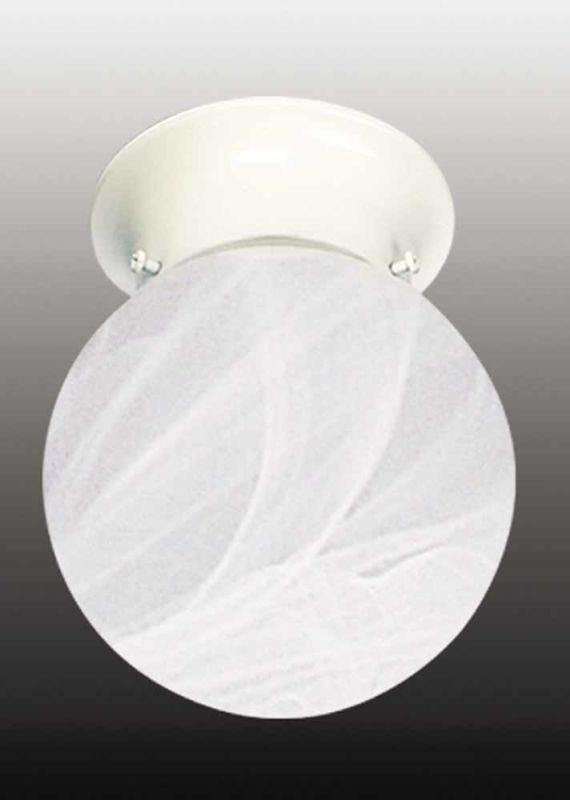 """Volume Lighting V7319 1 Light 6"""" Flush Mount Ceiling Fixture with"""