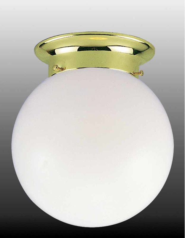 "Volume Lighting V7408 1 Light 8"" Flush Mount Ceiling Fixture with"