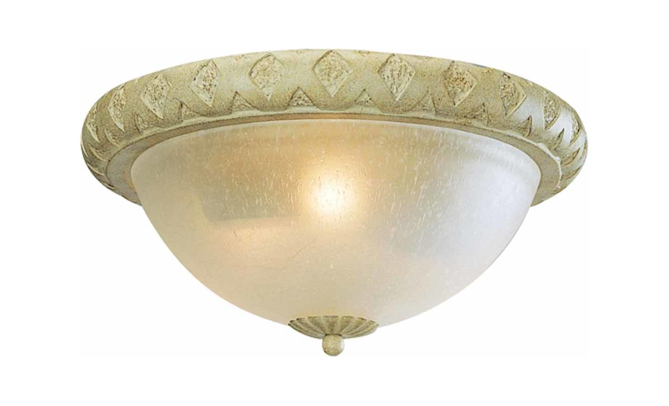 Volume Lighting V7443 Alexandria 2 Light Flush Mount Ceiling Fixture