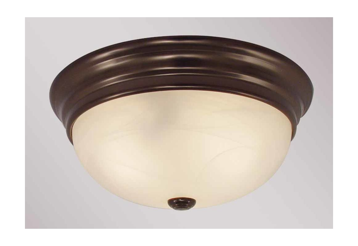 "Volume Lighting V7570 Marti 1 Light 11"" Flush Mount Ceiling Fixture"