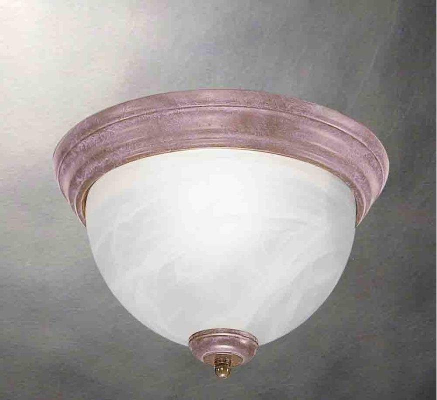 Volume Lighting V7610 Troy 1 Light Flush Mount Ceiling Fixture with