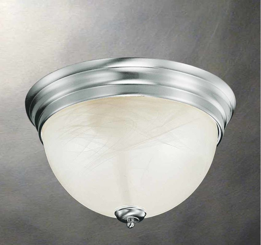 Volume Lighting V7612 Troy 2 Light Flush Mount Ceiling Fixture with