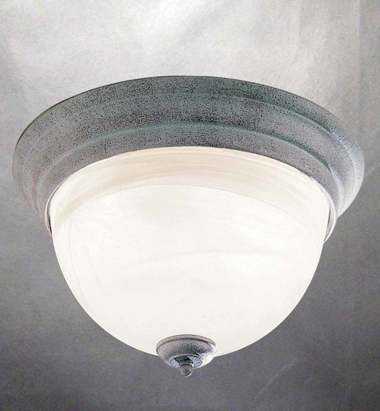 Volume Lighting V7614 Troy 3 Light Flush Mount Ceiling Fixture with