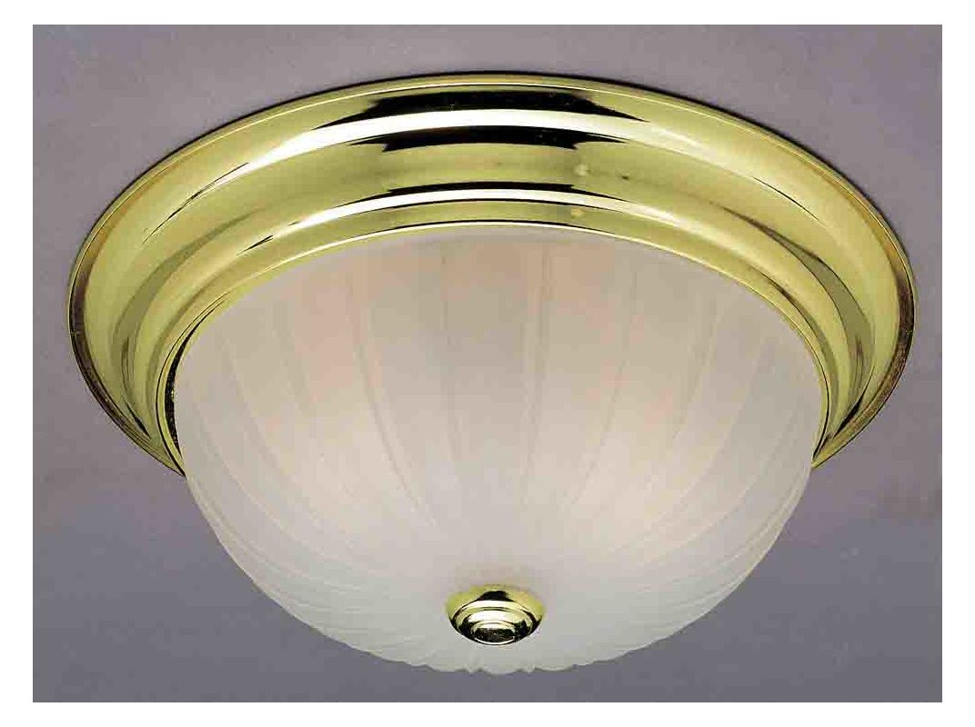 "Volume Lighting V7730 Marti 1 Light 11"" Flush Mount Ceiling Fixture"