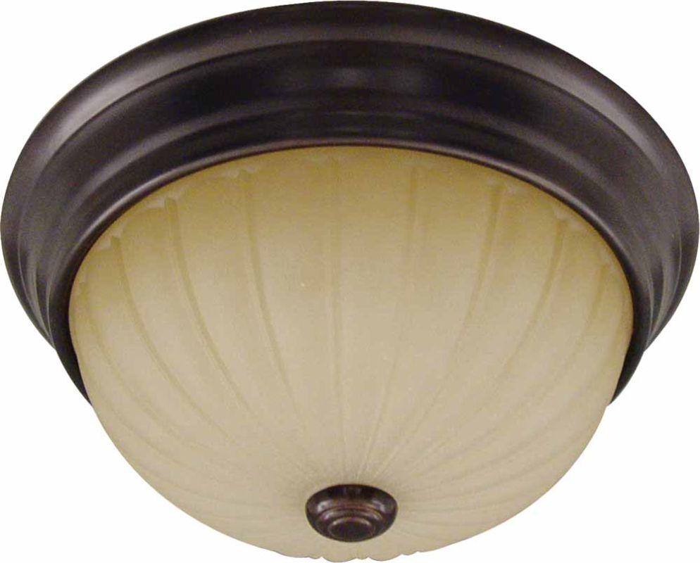 """Volume Lighting V7742 Troy 2 Light 13"""" Flush Mount Ceiling Fixture"""