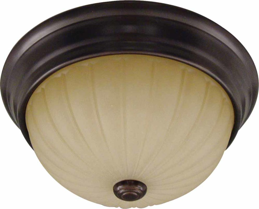 "Volume Lighting V7744 Troy 3 Light 15"" Flush Mount Ceiling Fixture"