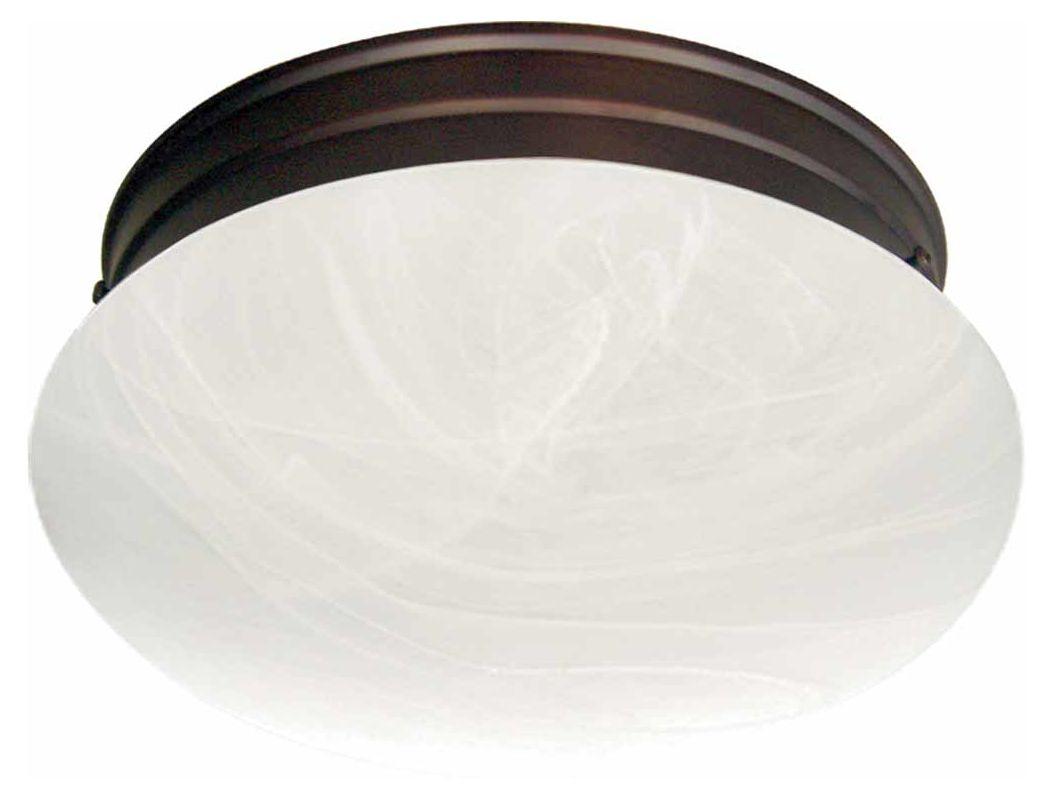 """Volume Lighting V7786 1 Light 7"""" Flush Mount Ceiling Fixture with"""