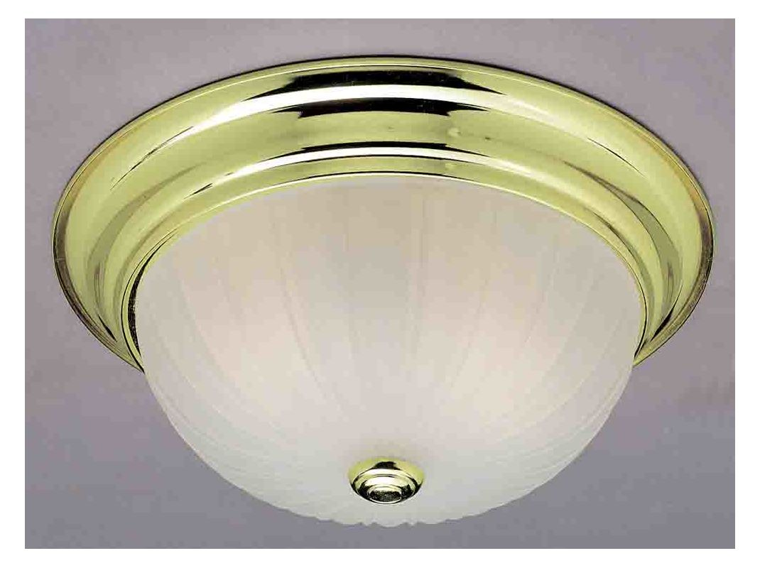 "Volume Lighting V7820 1 Light 11"" Flush Mount Ceiling Fixture with"