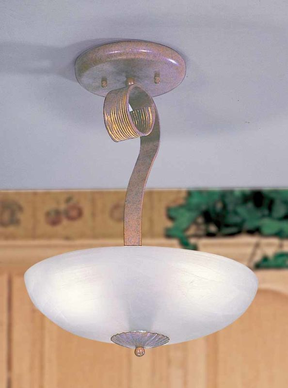 Volume Lighting V7910 Toltec 3 Light Semi-Flush Ceiling Fixture