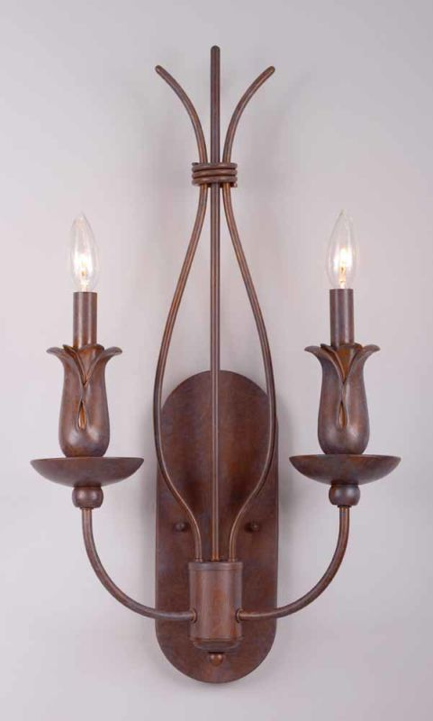 Volume Lighting V7942 Lafayette 2 Light Wall Sconce Prairie Rock