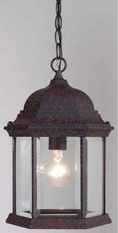 """Volume Lighting V8112 1 Light Outdoor 14.75"""" Height Pendant with Clear"""