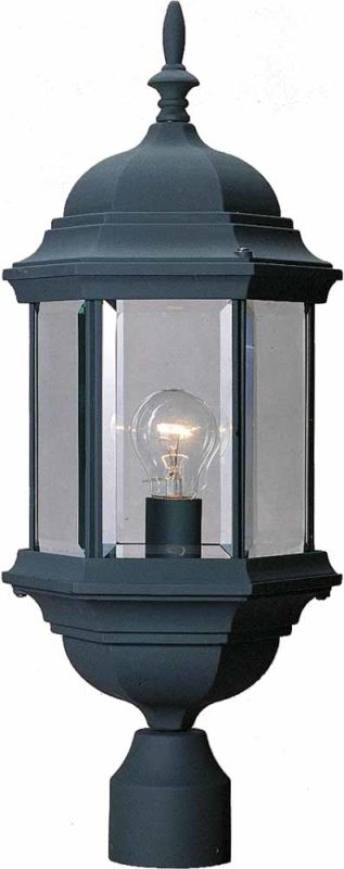 Volume Lighting V8126 1 Light Post Light with Clear Beveled Glass