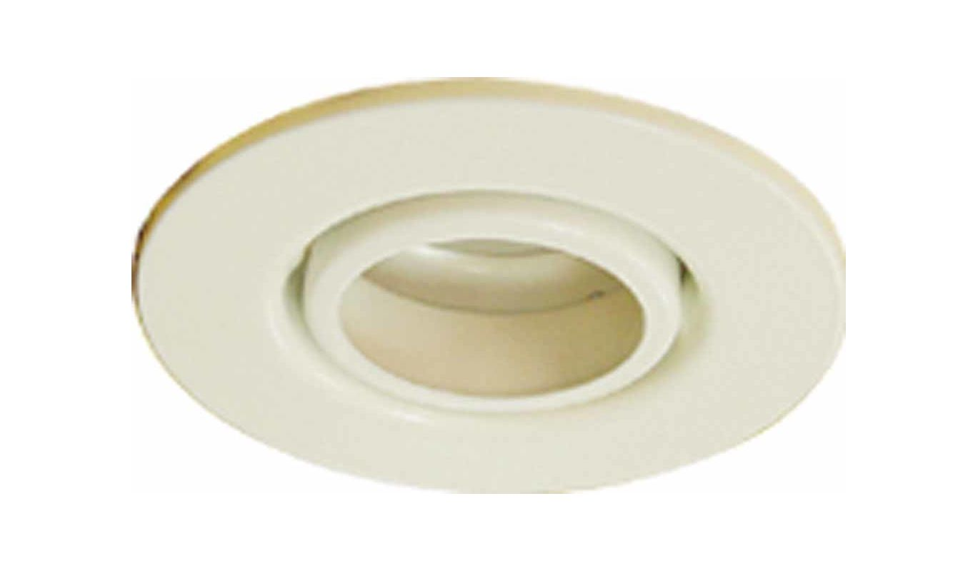 """Volume Lighting V8407 4"""" Recessed Trim with Gimbal Ring White Recessed"""