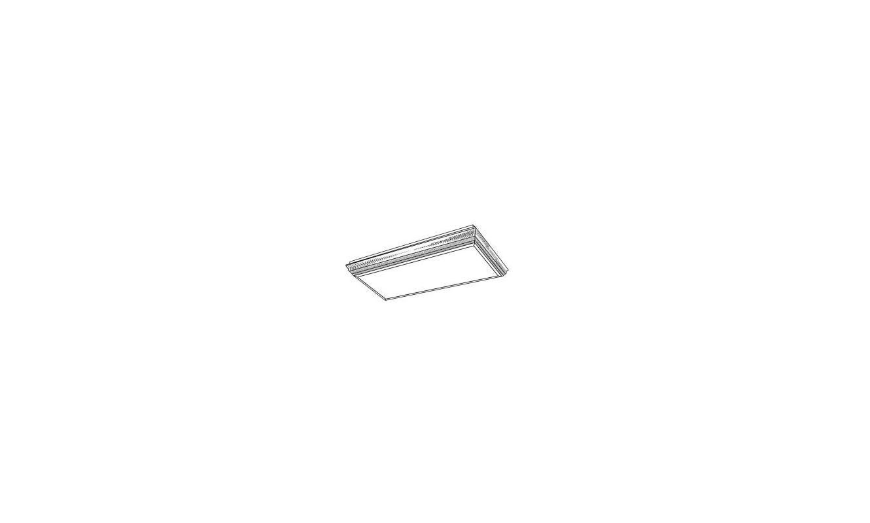 Volume Lighting V8460 Energy Saving 4 Light Flush Mount Fluorescent