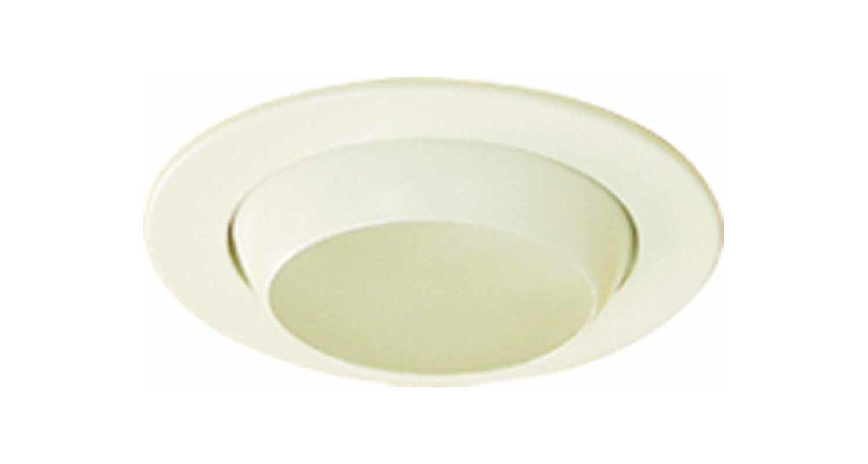 Volume lighting v8472 6 white 4 quot recessed trim with eyeball with 50 watt non ic lamping