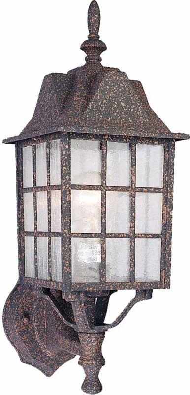 "Volume Lighting V8511 1 Light 17"" Height Outdoor Wall Sconce Rust"
