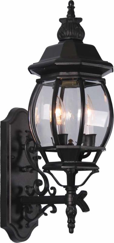 """Volume Lighting V8760 3 Light 23.5"""" Height Outdoor Wall Sconce with"""