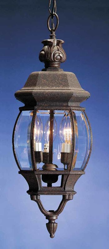 """Volume Lighting V8762 3 Light Outdoor 22"""" Height Pendant with Clear"""