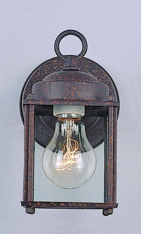 "Volume Lighting V9270 1 Light 8"" Height Outdoor Wall Sconce with Clear"