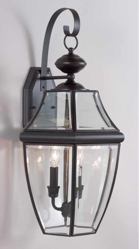 """Volume Lighting V9280 3 Light 24.75"""" Height Outdoor Wall Sconce with"""