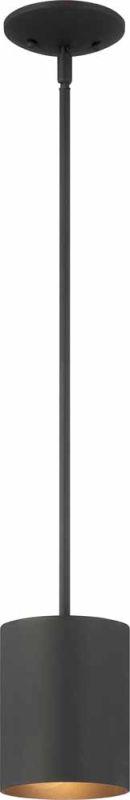 "Volume Lighting V9605 1 Light Outdoor 6.75"" Height Pendant with Metal"