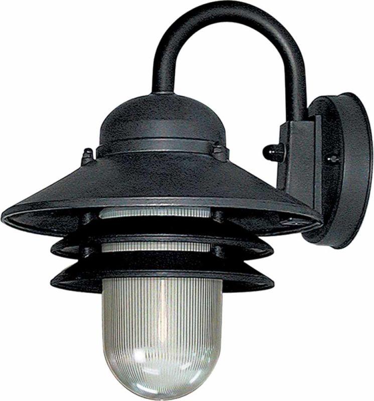 Wall Mounted Nautical Lights : Volume Lighting V9725-5 Black Nautical Outdoor 1 Light 10