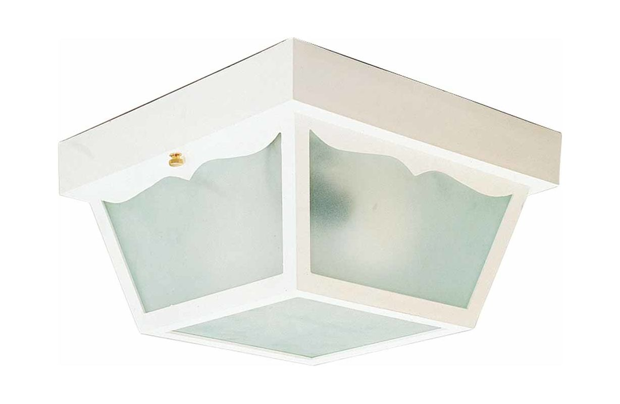 Volume Lighting V9761 1 Light Flush Mount Outdoor Ceiling Fixture with