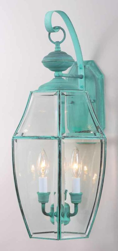 """Volume Lighting V9910 3 Light 24"""" Height Outdoor Wall Sconce with"""