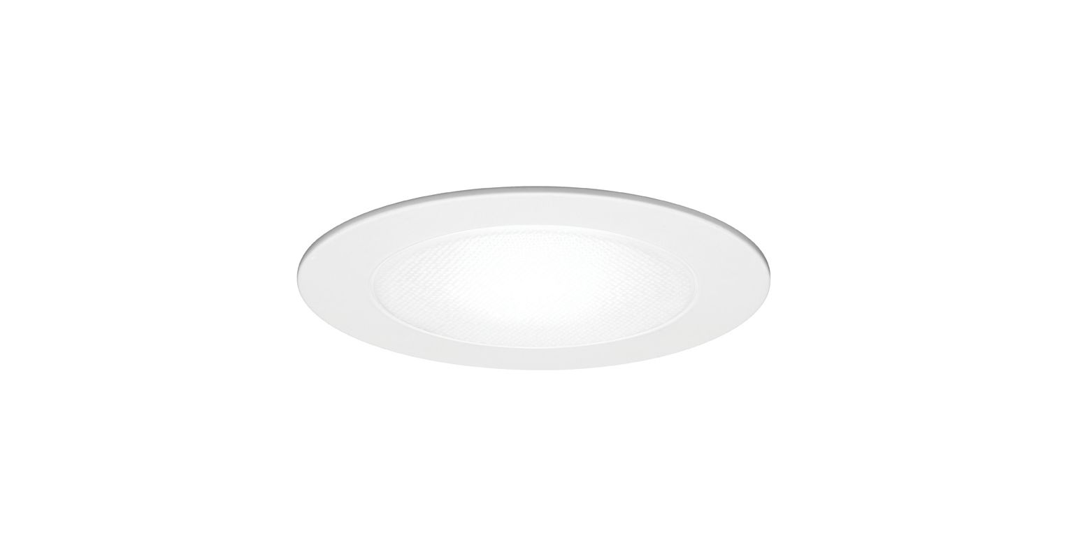 "WAC Lighting R-651 6"" Line Voltage Recessed Light Shower Trim White"
