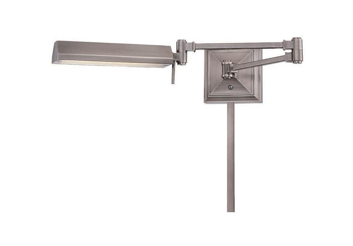 Wall Sconces For Damp Locations : WAC Lighting BL-1527-AN Antique Nickel Hemmingway 27