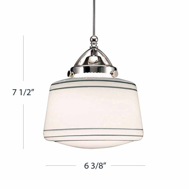 WAC Lighting G494 Plymouth Silver Glass Shade Only Silver Accessory