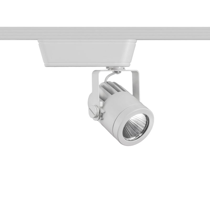 """WAC Lighting H-LED160F-927 Precision 1 Light LED Low Voltage Title 24 Sale $152.50 ITEM: bci2678342 ID#:H-LED160F-927-WT UPC: 790576342269 Features: Material: Di-Cast Aluminum UL Listed for Dry Location Capable of being dimmed - allowing you to set your desired illumination levels when used with dimmable bulbs Warranty: 5 Years components with 2 years finish 365 Degree horizontal rotation and 180 degree vertical aiming ELV Dimming: 100%-10% Lamping Technology: LED - Light Emitting Diode: Highly efficient integrated diodes produce little heat and have an extremely long lifespan. Dimensions: Height: 5.56"""" Width: 5.31"""" (measured from furthest point left to furthest point right on fixture) Depth: 2.25"""" Product Weight: 2 lbs Electrical Specifications: Bulb Type: LED Bulb Included: Yes Wattage: 14.5 Voltage: 120v Wattage: 14.5 Voltage: 120v Average Hours: 70,000 Color Rendering Index (CRI): 90 Color Temperature: 2700K Lumens: 975 System Type: H-Track Voltage Type: Low Voltage Compliance: UL Listed - Indicates whether a product meets standards and compliance guidelines set by Underwriters Laboratories. This listing determines what types of rooms or environments a product can be used in safely. ETL Listed - Indicates whether a product meets standards and compliance guidelines set by Nationally Recognized Testing Laboratory(NRTL). This listing determines what types of rooms or environments a product can be used in safely. California Title 24: A regulation designed to encourage the use of lower energy lamping configurations in order to reduce the energy used for residential and commercial lighting within the state. :"""