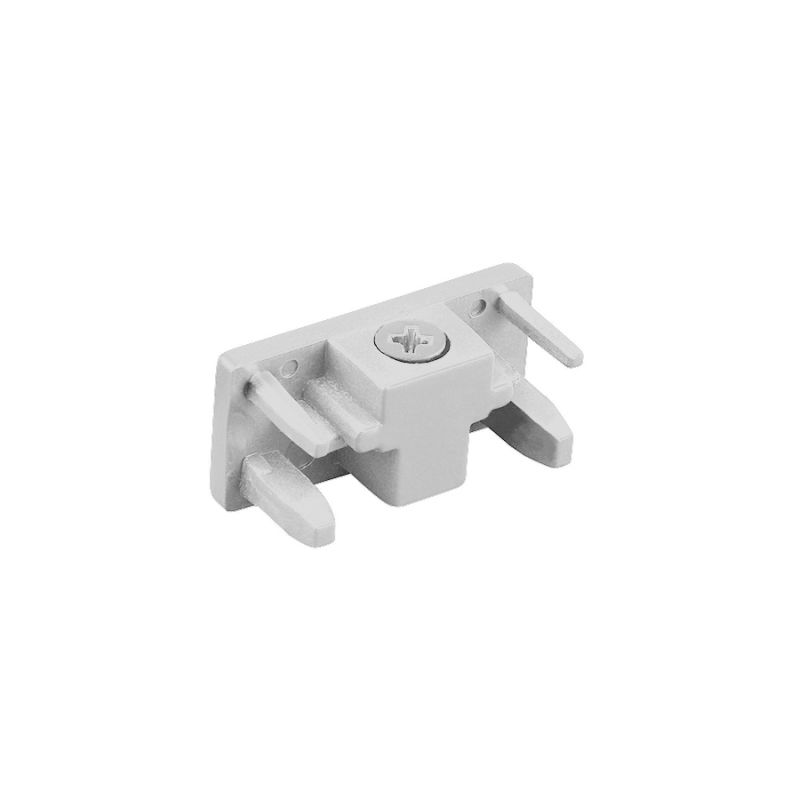 """WAC Lighting L-ENDCAP 1.5"""" Length End Cap for L-Track Systems White"""
