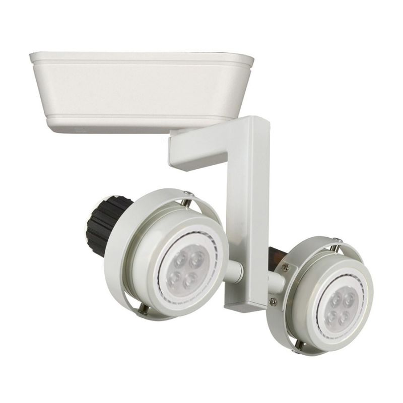 WAC Lighting LHT-817LED Double Droid Low-Voltage LED Track Head for