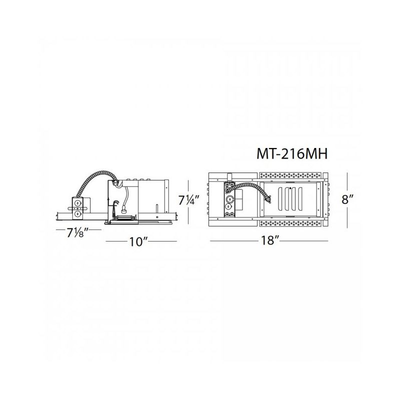 WAC Lighting MT-216MH-35 Multiple Spot Recessed Light Housing for New Sale $396.00 ITEM: bci1645983 ID#:MT-216MH-35 UPC: 790576141060 :