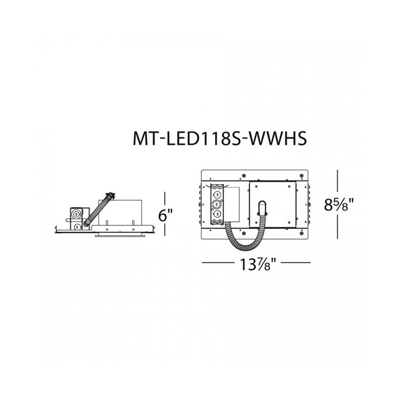 """WAC Lighting MT-LED118S-CWHS 4"""" Trim 4500K High Output LED Recessed"""