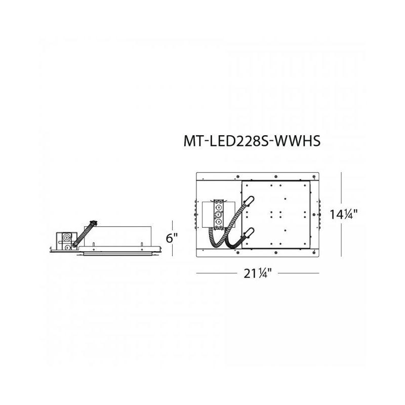 WAC Lighting MT-LED228F-CWHS Multiple Spot 4500K High Output LED