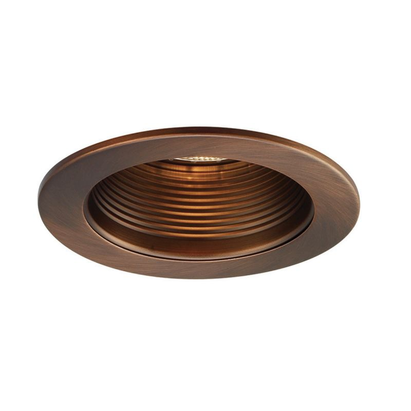 "WAC Lighting R-420 4"" Line Voltage Recessed Light Baffle Trim Copper"
