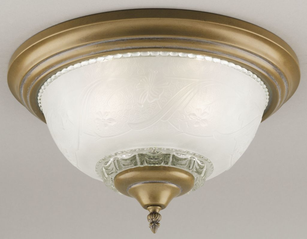 Westinghouse 66177 Single Light Ceiling Fixture Featuring Embossed