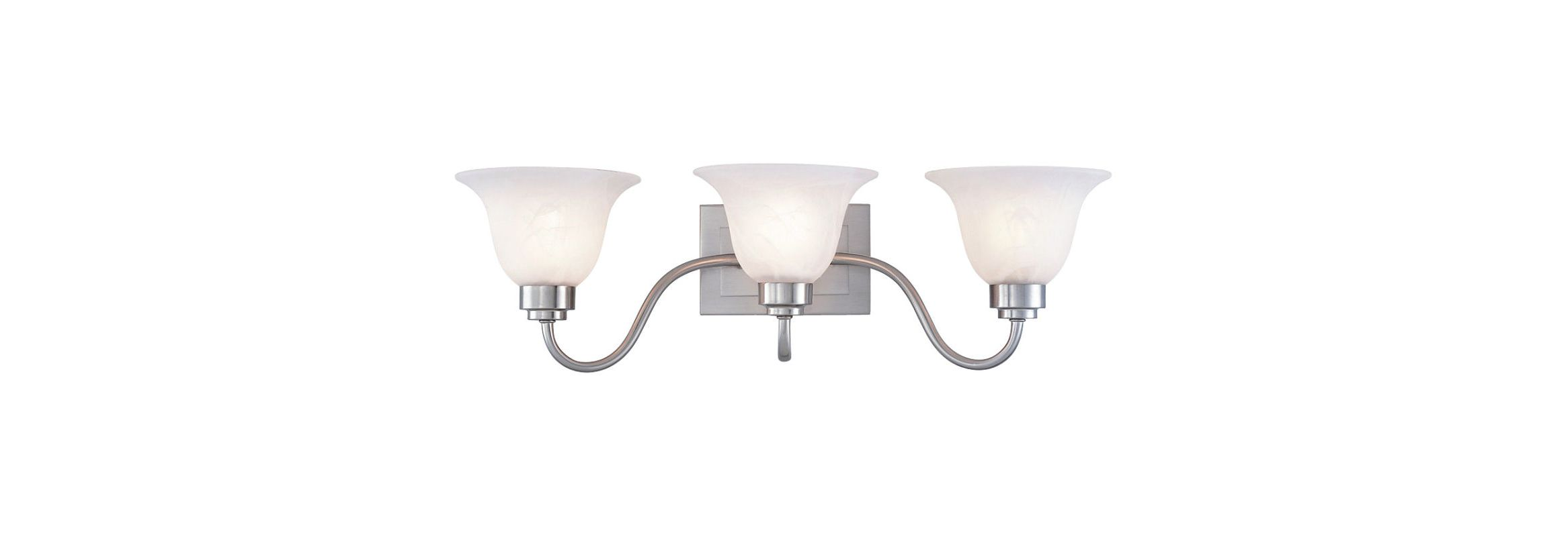 """Westinghouse 66649 3 Light 25"""" Wide Bathroom Fixture from the"""