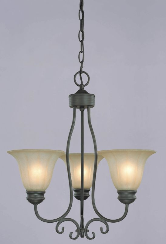 Westinghouse 66887 3 Light Mini Chandelier from the Giorgio Collection