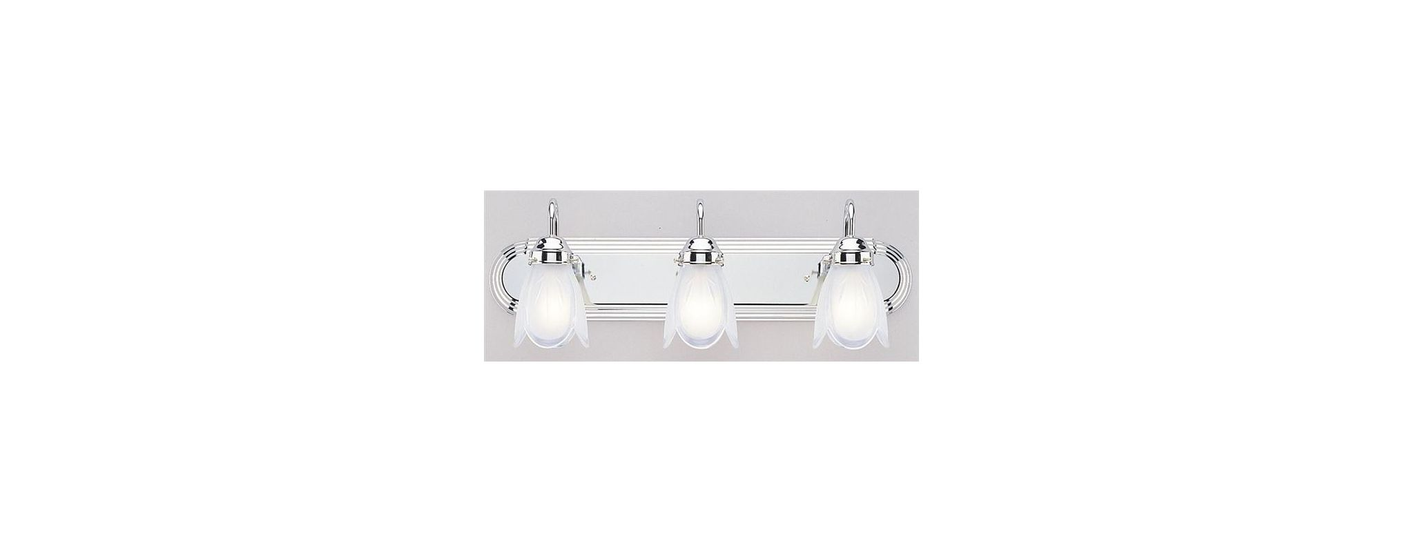 """Westinghouse 67477 3 Light 24"""" Wide Bathroom Fixture with Frosted"""