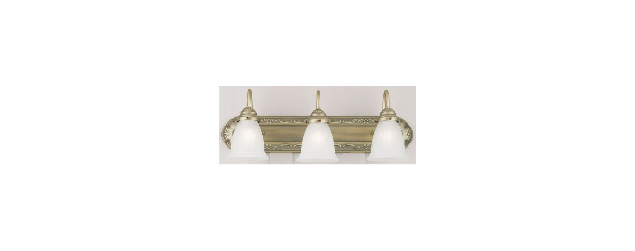 "Westinghouse 67513 3 Light 24"" Wide Bathroom Fixture with Frosted"