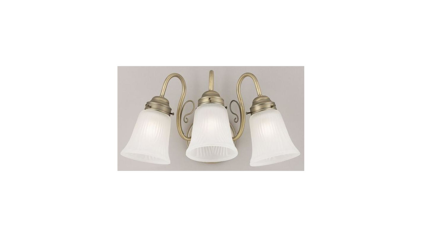 "Westinghouse 67515 3 Light 16.5"" Wide Bathroom Fixture with Frosted"
