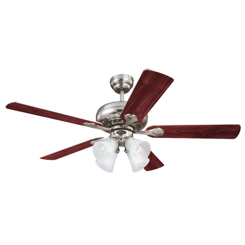 """Westinghouse 7852165 Swirl 52"""" 5 Blade Hanging Indoor Ceiling Fan with"""